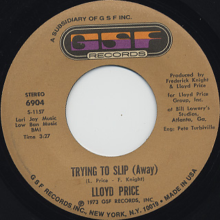 Lloyd Price / They Get Down c/w Trying To Slip back