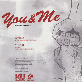 Pings feat Rob-O / You & Me back