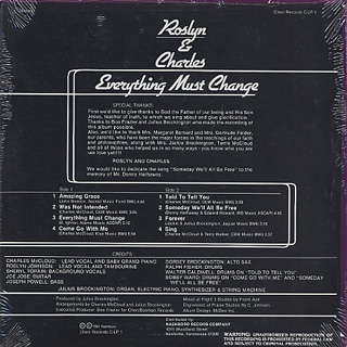 Roslyn & Charles / Everything Must Change back