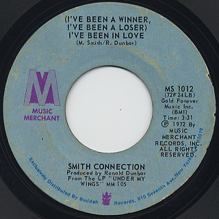 Smith Connection / I Can't Hold On Much Longer c/w I've Been In Love back