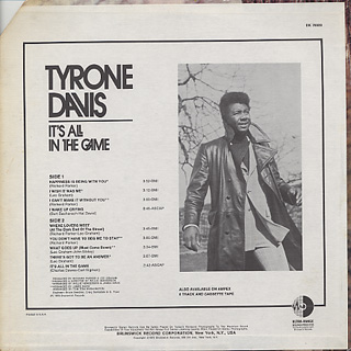 Tyrone Davis / It's All In The Game back