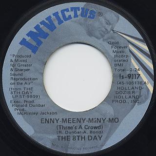8th Day / Rocks In My Head c/w Enny – Meeny – Miny Mo back