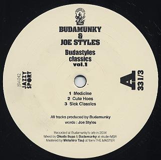 Budamunky & Joe Styles / Budastyles Classics Vol.1