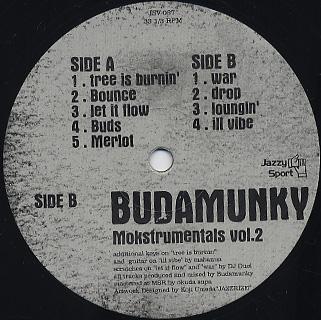 Budamunky / Mnkstrumentals Vol.2 back