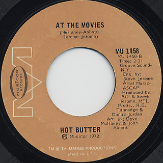 Hot Butter / At The Movies c/w Popcorn