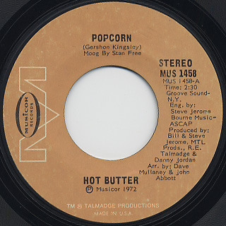 Hot Butter / At The Movies c/w Popcorn back