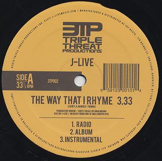 J-Live / The Way That I Rhyme back