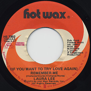 Laura Lee / (If You Want to Try to Love Again)Remember Me