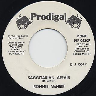 Ronnie McNeir / Sagittarian Affair back