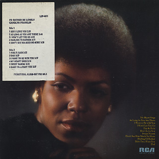 Carolyn Franklin / I'd Rather Be Lonely