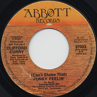 Clifford Curry / The Natives Are Restless Tonight c/w Funky Feelin' back