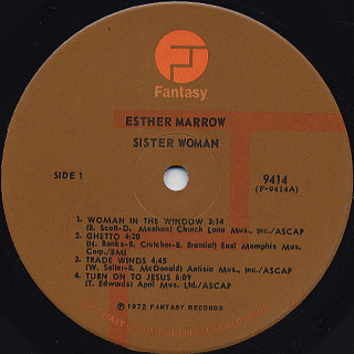 Esther Marrow / Sister Woman label