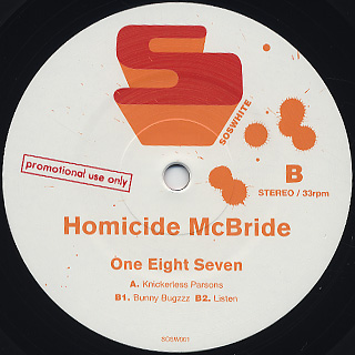 Homicide McBride / One Eight Seven back