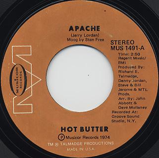 Hot Butter / Apache c/w Pipline