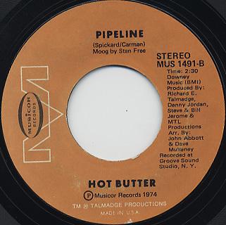 Hot Butter / Apache c/w Pipline back