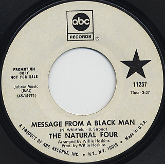Natural Four / Message From A Black Man c/w Stepping Out