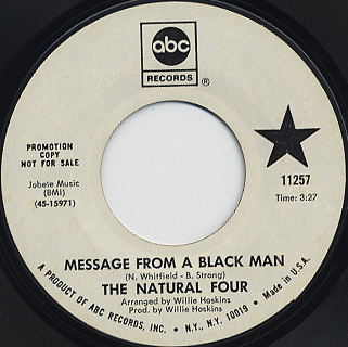 Natural Four / Message From A Black Man c/w Stepping Out back