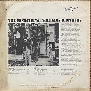 Sensational Williams Brothers / Holding On back