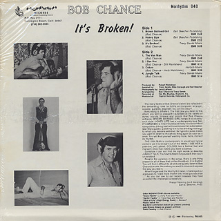 Bob Chance / It's Broken back
