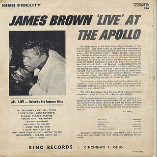 James Brown / James Brown Live At The Apollo back