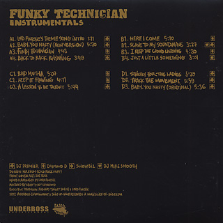 Lord Finesse & DJ Mike Smooth / Funky Technician Instrumentals back