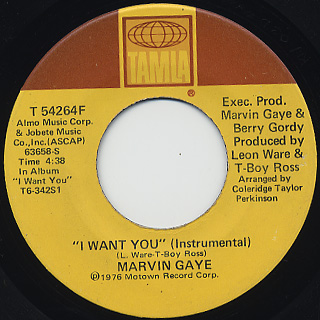 Marvin Gaye / I Want You (45) back