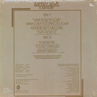 Ramsey Lewis / Solid Ivory back