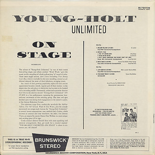 Young Holt Unlimited / On Stage back