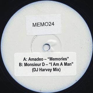 Amadeo / Memories c/w Dj Harvey / I Am A Man
