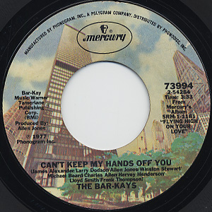 Bar-Kays / Attitudes c/w Can't Keep My Hands Off You back