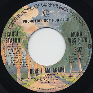 Candi Staton / Here I Am Again back