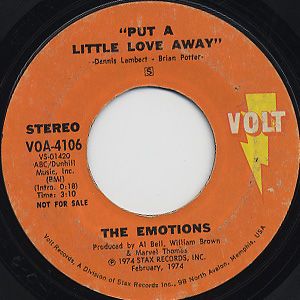 Emotions / Put A Little Love Away back