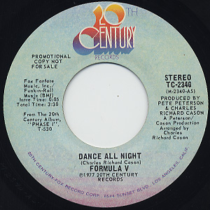 Formula V / Dance All Night c/w (Mono)