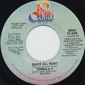 Formula V / Dance All Night c/w (Mono) back