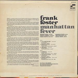 Frank Foster / Manhattan Fever back