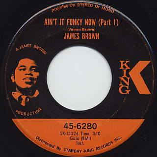 James Brown / Ain't It Funky Now (Part1 & Part2) (2)