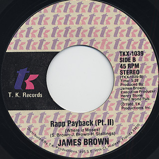 James Brown / Rapp Payback (Where Iz Moses?) back