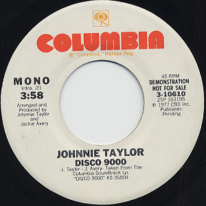 Johnnie Taylor / Disco9000 (45) back