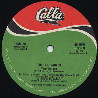 Persuaders / Count The Way c/w Two Women back