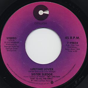 Sister Sledge / Lifetime Lover c/w Gotta Get Back To Love back