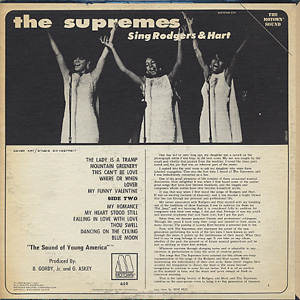 Supremes / Sing Rodgers & Hart back