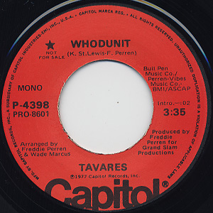 Tavares / Whodunit c/w (Mono) back