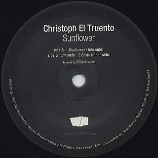 Christoph El Truento / Sunflower label