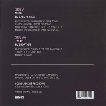 DJ Babu & Shortkut / Beat Junkies 45 Series Vol. 2 back