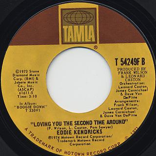 Eddie Kendricks / Loving You The Second Time Around back