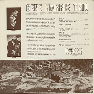 Gene Harris Trio / Live At Otter Crest - First Set back