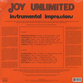 Joy Unlimited / Instrumental Impressions back