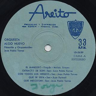 Juan Pablo Torres / Con Todos Los Hierros label