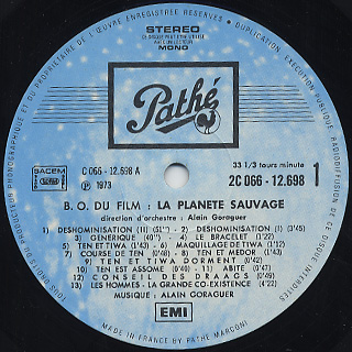 O.S.T.(Alain Goraguer) / La Planete Sauvage label