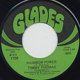 Timmy Thomas / People Are Changin' c/w Rainbow Power back